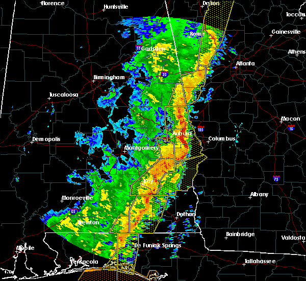 Radar Image for Severe Thunderstorms near Ladonia, AL at 1/11/2020 3:50 PM CST