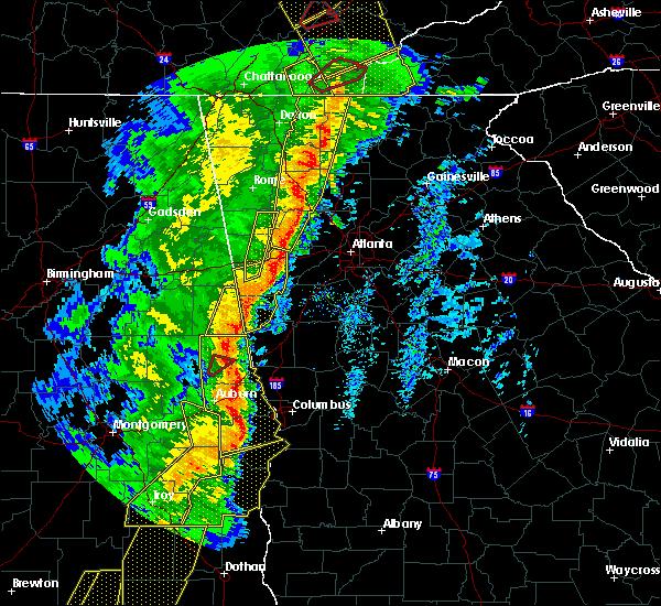 Radar Image for Severe Thunderstorms near Franklin, GA at 1/11/2020 4:50 PM EST