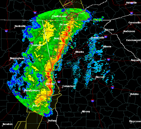 Radar Image for Severe Thunderstorms near Ellijay, GA at 1/11/2020 4:51 PM EST