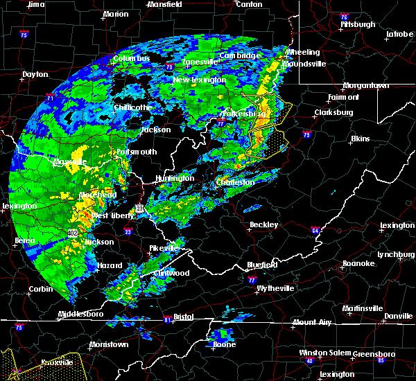 Radar Image for Severe Thunderstorms near Auburn, WV at 1/11/2020 4:54 PM EST