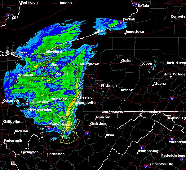 Radar Image for Severe Thunderstorms near Paden City, WV at 1/11/2020 4:55 PM EST