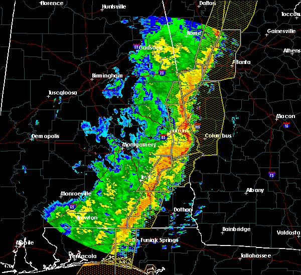Radar Image for Severe Thunderstorms near Ladonia, AL at 1/11/2020 4:00 PM CST