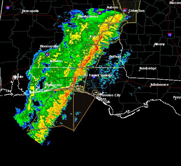 Radar Image for Severe Thunderstorms near Destin, FL at 1/11/2020 4:00 PM CST