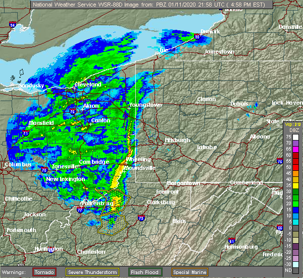 Radar Image for Severe Thunderstorms near Paden City, WV at 1/11/2020 5:03 PM EST
