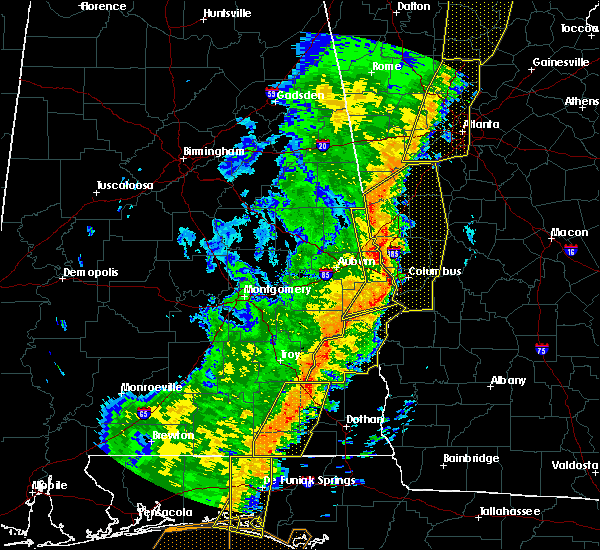 Radar Image for Severe Thunderstorms near Columbus, GA at 1/11/2020 5:05 PM EST