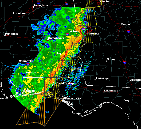 Radar Image for Severe Thunderstorms near New Brockton, AL at 1/11/2020 4:07 PM CST