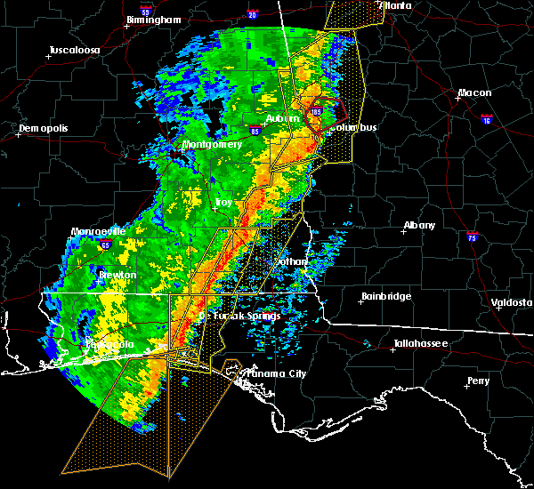Radar Image for Severe Thunderstorms near Clayton, AL at 1/11/2020 4:11 PM CST