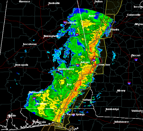 Radar Image for Severe Thunderstorms near Ladonia, AL at 1/11/2020 4:10 PM CST