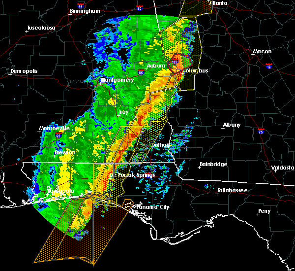 Radar Image for Severe Thunderstorms near Clayton, AL at 1/11/2020 4:24 PM CST