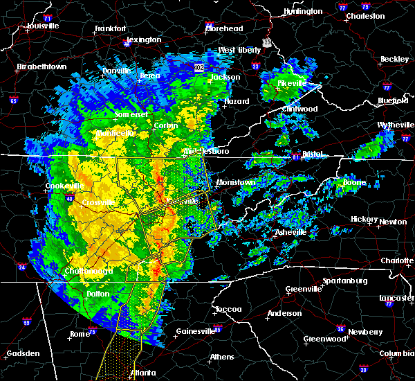 Radar Image for Severe Thunderstorms near Rockford, TN at 1/11/2020 5:26 PM EST