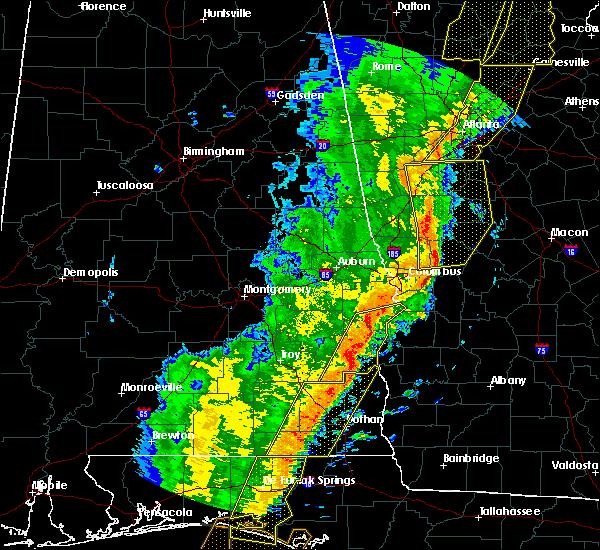 Radar Image for Severe Thunderstorms near Lumpkin, GA at 1/11/2020 5:37 PM EST