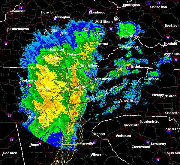 Radar Image for Severe Thunderstorms near Marble, NC at 1/11/2020 5:37 PM EST