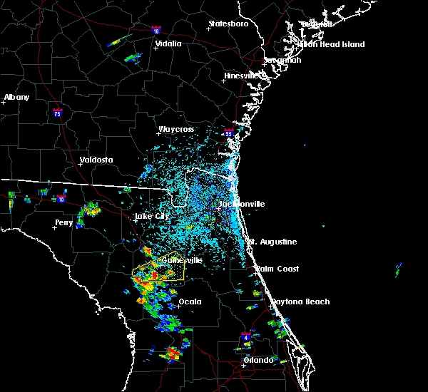 Radar Image for Severe Thunderstorms near Gainesville, FL at 6/24/2015 3:20 PM EDT