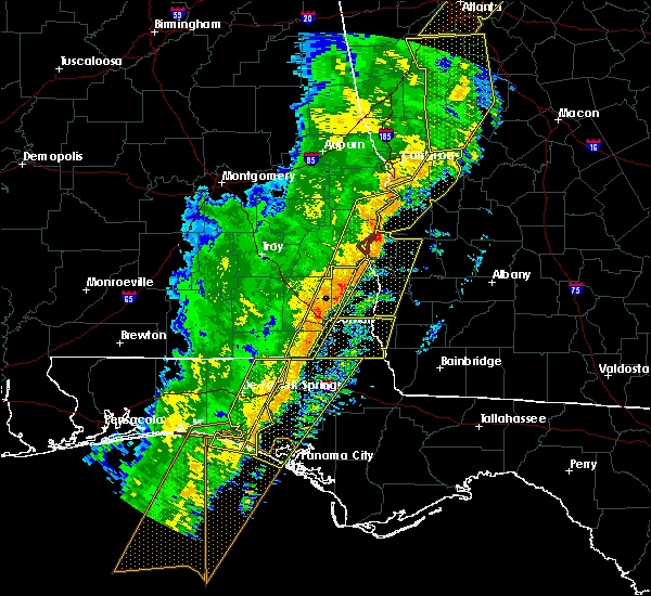 Radar Image for Severe Thunderstorms near Slocomb, AL at 1/11/2020 4:59 PM CST