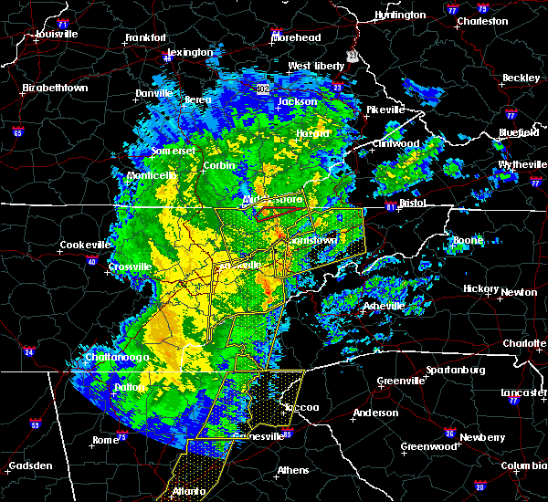 Radar Image for Severe Thunderstorms near Morristown, TN at 1/11/2020 6:07 PM EST