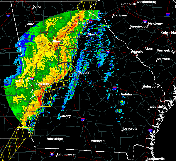 Radar Image for Severe Thunderstorms near Butler, GA at 1/11/2020 6:20 PM EST