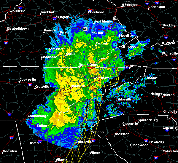 Radar Image for Severe Thunderstorms near Kingsport, TN at 1/11/2020 6:23 PM EST