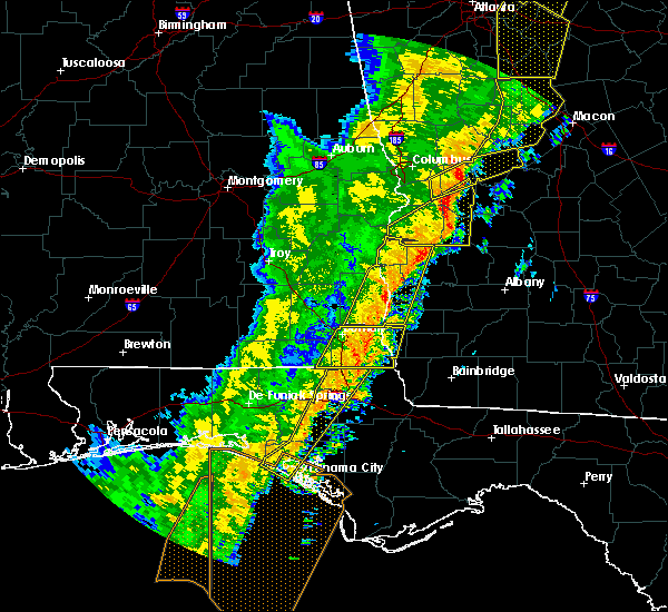 Radar Image for Severe Thunderstorms near Richland, GA at 1/11/2020 6:32 PM EST