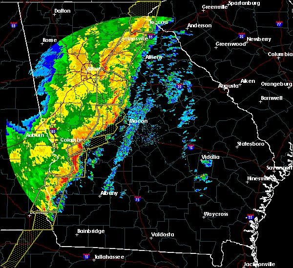 Radar Image for Severe Thunderstorms near Salem, GA at 1/11/2020 6:37 PM EST