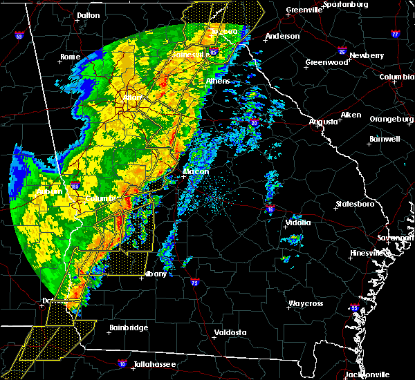Radar Image for Severe Thunderstorms near Butler, GA at 1/11/2020 6:46 PM EST
