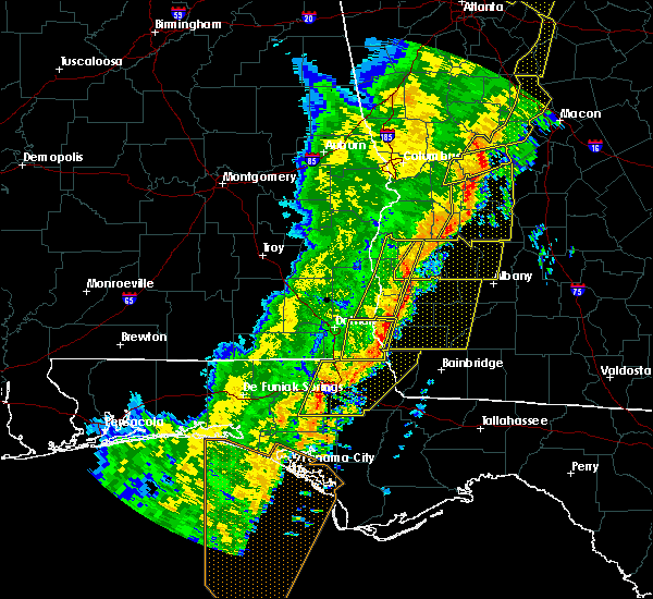 Radar Image for Severe Thunderstorms near Bluffton, GA at 1/11/2020 6:52 PM EST