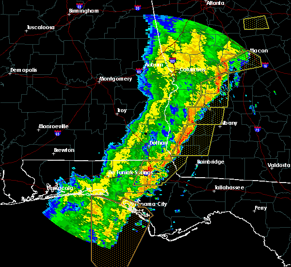 Radar Image for Severe Thunderstorms near Shellman, GA at 1/11/2020 7:09 PM EST