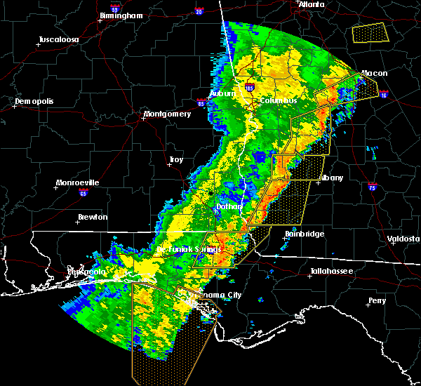 Radar Image for Severe Thunderstorms near Leary, GA at 1/11/2020 7:10 PM EST