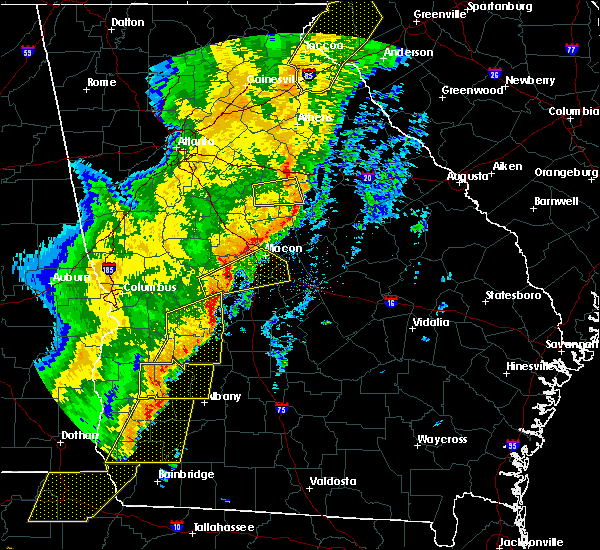 Radar Image for Severe Thunderstorms near Vienna, GA at 1/11/2020 7:17 PM EST