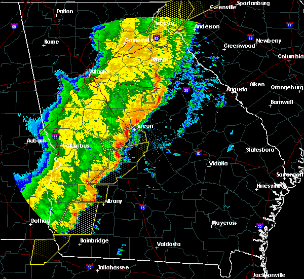 Radar Image for Severe Thunderstorms near Macon, GA at 1/11/2020 7:29 PM EST