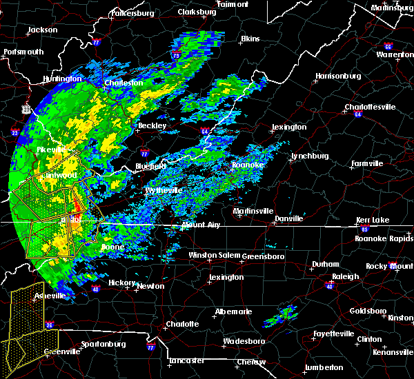 Radar Image for Severe Thunderstorms near Boone, NC at 1/11/2020 7:30 PM EST