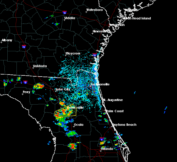 Radar Image for Severe Thunderstorms near Gainesville, FL at 6/24/2015 3:35 PM EDT