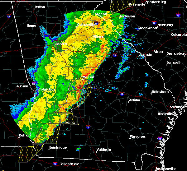 Radar Image for Severe Thunderstorms near Jeffersonville, GA at 1/11/2020 7:46 PM EST