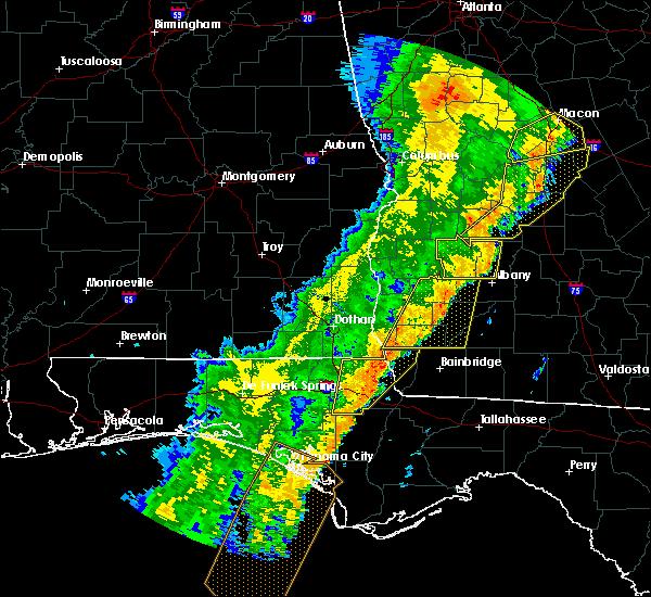 Radar Image for Severe Thunderstorms near Colquitt, GA at 1/11/2020 7:46 PM EST