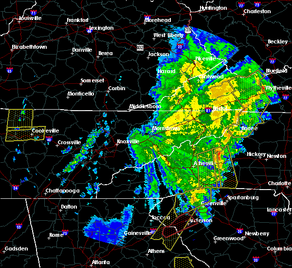 Radar Image for Severe Thunderstorms near Crossnore, NC at 1/11/2020 8:05 PM EST