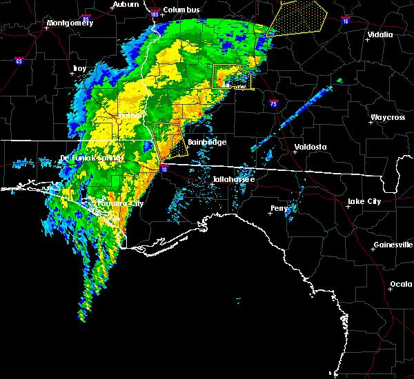 Radar Image for Severe Thunderstorms near Colquitt, GA at 1/11/2020 8:16 PM EST