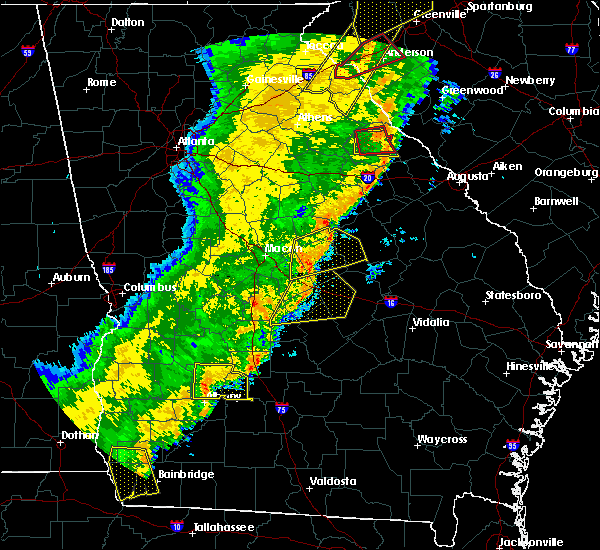 Radar Image for Severe Thunderstorms near Sparta, GA at 1/11/2020 8:23 PM EST