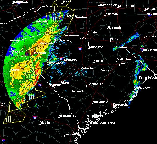 Radar Image for Severe Thunderstorms near Plum Branch, SC at 1/11/2020 8:28 PM EST