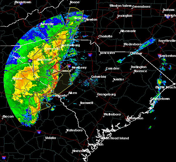 Radar Image for Severe Thunderstorms near Silverstreet, SC at 1/11/2020 8:54 PM EST