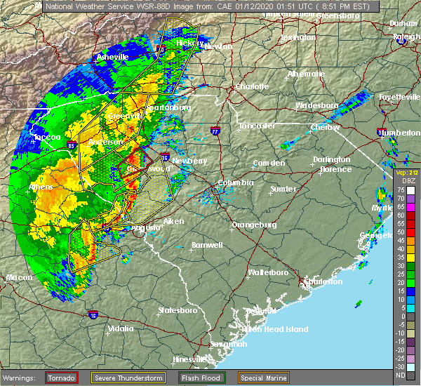Radar Image for Severe Thunderstorms near Thomson, GA at 1/11/2020 8:56 PM EST