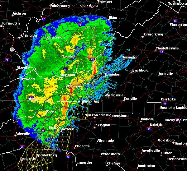 Radar Image for Severe Thunderstorms near Radford, VA at 1/11/2020 9:14 PM EST