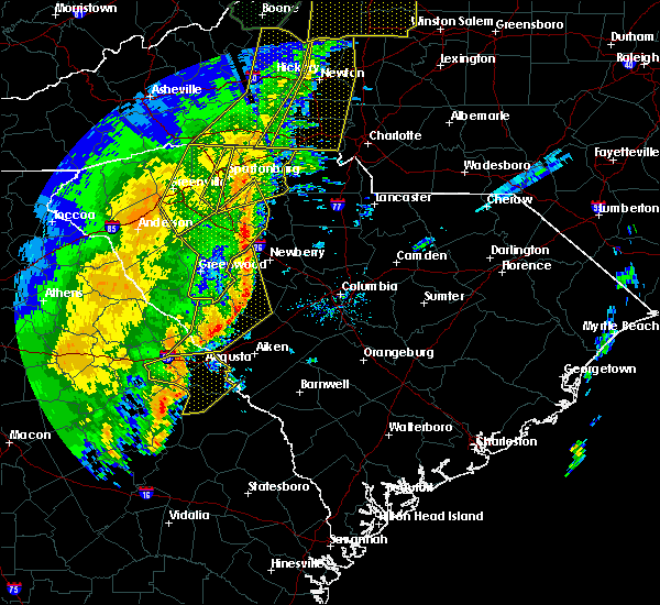 Radar Image for Severe Thunderstorms near Pomaria, SC at 1/11/2020 9:15 PM EST