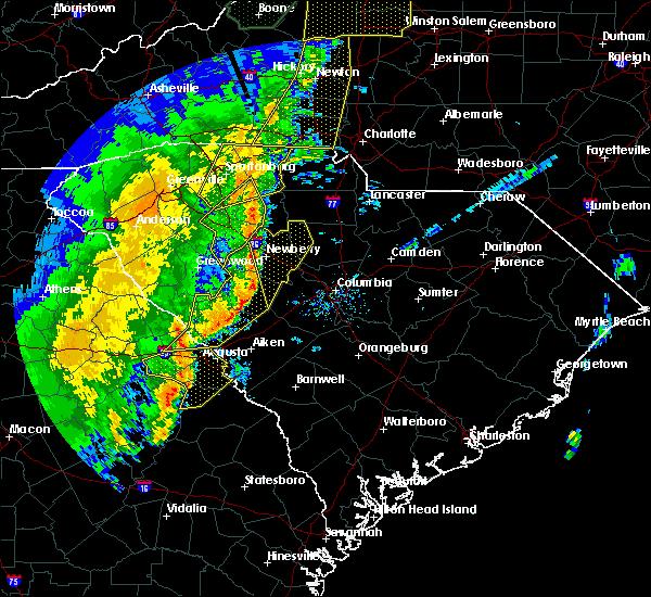 Radar Image for Severe Thunderstorms near Silverstreet, SC at 1/11/2020 9:20 PM EST