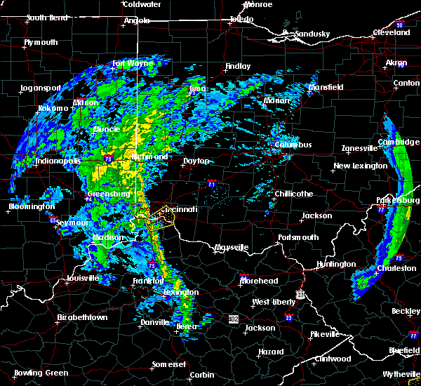 Radar Image for Severe Thunderstorms near Melbourne, KY at 1/11/2020 9:31 PM EST