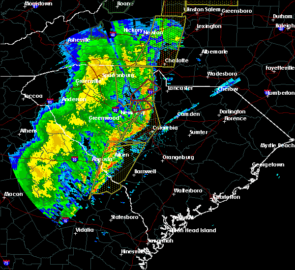 Radar Image for Severe Thunderstorms near JAARS, NC at 1/11/2020 9:58 PM EST
