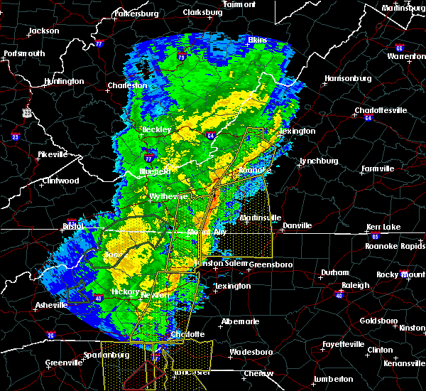 Radar Image for Severe Thunderstorms near Salisbury, NC at 1/11/2020 10:03 PM EST