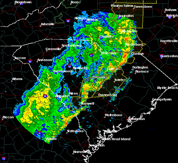 Radar Image for Severe Thunderstorms near Bennettsville, SC at 1/11/2020 11:06 PM EST