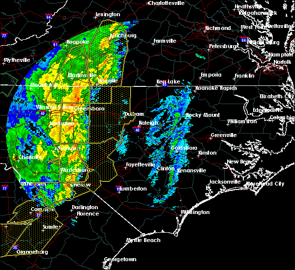 Radar Image for Severe Thunderstorms near Thomasville, NC at 1/11/2020 11:16 PM EST