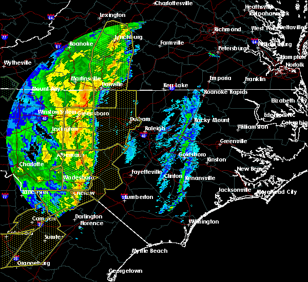 Radar Image for Severe Thunderstorms near Biscoe, NC at 1/11/2020 11:21 PM EST