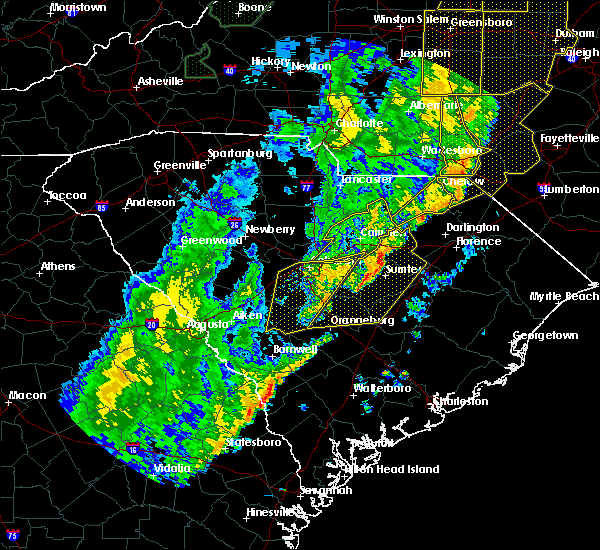 Radar Image for Severe Thunderstorms near Patrick, SC at 1/11/2020 11:24 PM EST