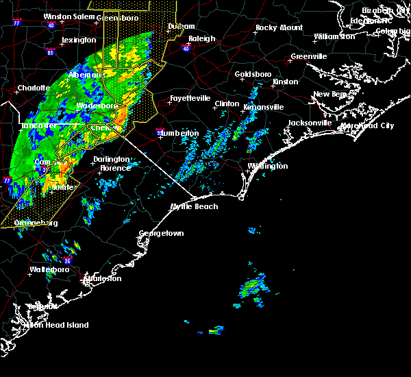 Radar Image for Severe Thunderstorms near Pembroke, NC at 1/11/2020 11:42 PM EST